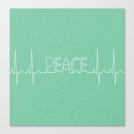 Peace Pulse Minimalist Christmas Canvas Print
