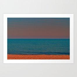 Brick beach Art Print