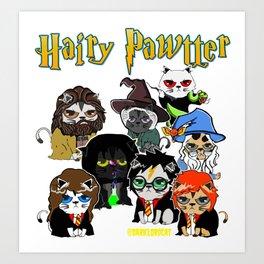 HAIRY PAWTTER Art Print
