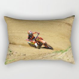 Turning Point Motocross Champion Race Rectangular Pillow