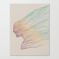 huebucket Canvas Prints featuring FADE by Huebucket