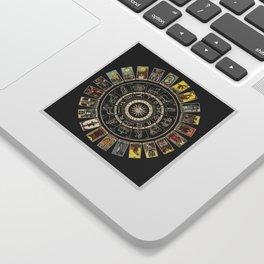 The Major Arcana & The Wheel of the Zodiac Sticker