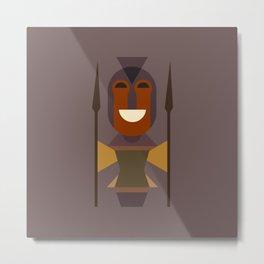 African Warrior Woman Art Metal Print