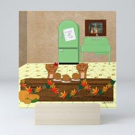 Oliver Eyeing Mom's Caramel Apples Mini Art Print
