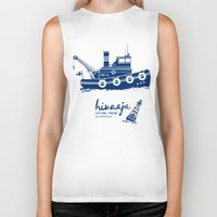 finland Biker Tanks featuring Hinaaja (Finland) Gay Slang Collection. Blue. by Moscas de colores