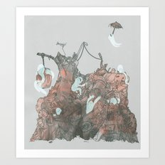 Junkyard Playground Art Print