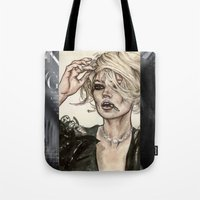 kate moss Tote Bags featuring Kate Moss by vooce & kat