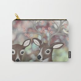 white tailed deer, warbling vireos, & cherry blossoms Carry-All Pouch