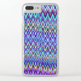 Missoni Style Blue Clear iPhone Case