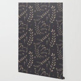 Light Sepia Leaves Pattern #1 #drawing #decor #art #society6 Wallpaper