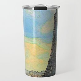 Watercolor Dream of Paris Travel Mug