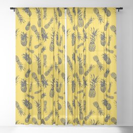 Pineapple Fiesta Sheer Curtain