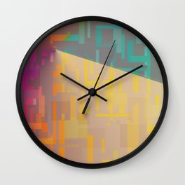 Quadrilateral Fade Wall Clock