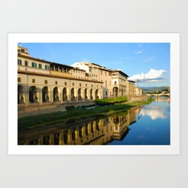 The Arno River - Florence Italy Art Print