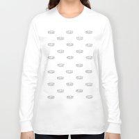 teeth Long Sleeve T-shirts featuring teeth by Black Bear / White Bear