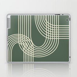 Minimalist Lines in Forest Green Laptop & iPad Skin