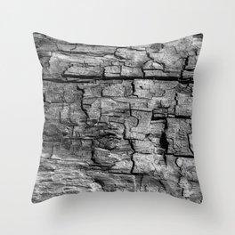 Textured Timber Throw Pillow