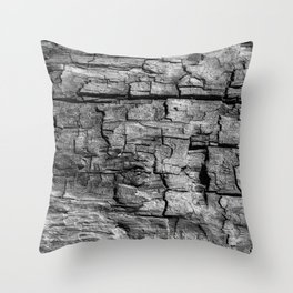 Textured Timber Throw Pillow