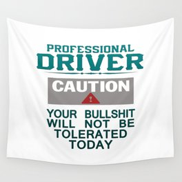 Truck Driver Safety Wall Tapestry