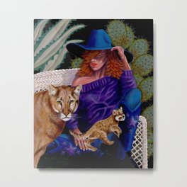 """""""Strength and Courage"""" Metal Print"""