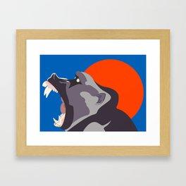 Baboon Moon Framed Art Print
