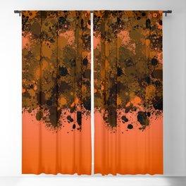paint splatter on gradient pattern or Blackout Curtain