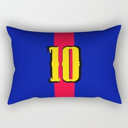 football team 1 number ten Rectangular Pillow
