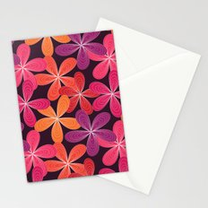 Hippie Orange and pink flowers  Stationery Cards