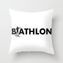 Biathlon Throw Pillow