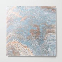 Rose Gold & Baby Blue Metal Print