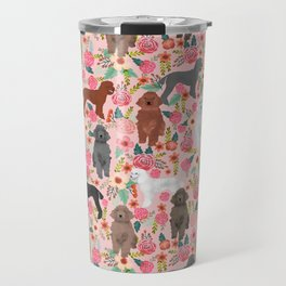 Poodle mixed coat colors brown poodle black poodle white poodle pet portrait dog art animal Travel Mug
