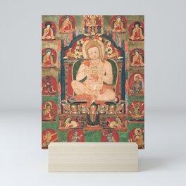 Portrait of Jnanatapa Attended by Lamas and Mahasiddhas 14th Century Mini Art Print