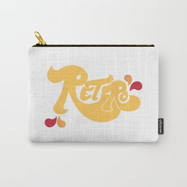 Retro Type and Pattern Design Carry-All Pouch