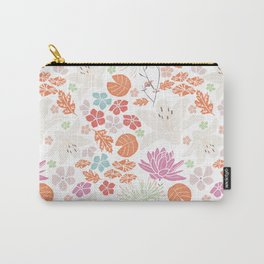 Fresh orange Japanese pond flowers Carry-All Pouch