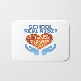 School Social Worker Bath Mat