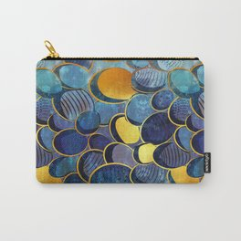 Abstract deep blue Carry-All Pouch