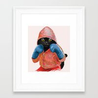 boxing Framed Art Prints featuring Boxing Cat 2  by Tummeow