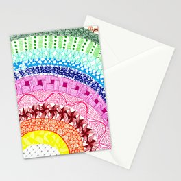 Rainbow Zentangle Stationery Cards