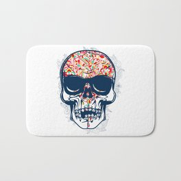 Dead Skull Zombie with Brain Bath Mat