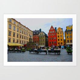 Stortorget Square in Gamla stan - Stockholm Art Print