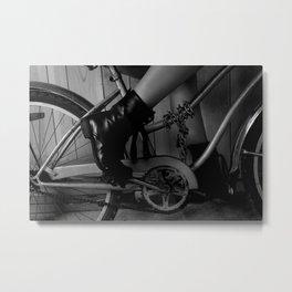 La bici Metal Print