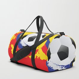 Football Ball and red, blue and yellow Strokes Duffle Bag
