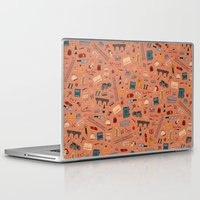 the grand budapest hotel Laptop & iPad Skins featuring Budapest Hotel Plot Pattern by QRS Patterns