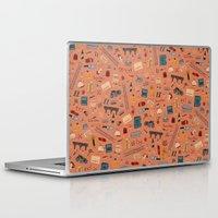 budapest hotel Laptop & iPad Skins featuring Budapest Hotel Plot Pattern by Dan Lehman | QRS
