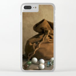 Marbles Clear iPhone Case