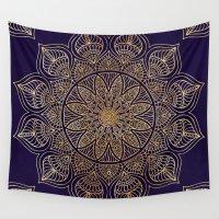 xbox Wall Tapestries featuring Gold Mandala by Mantra Mandala