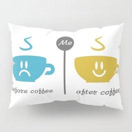 Before and after coffee #society6 #decor #buyart #artprint Pillow Sham
