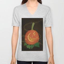 Magical Carved Pumpkin Unisex V-Neck