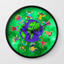 the world needs more love Wall Clock