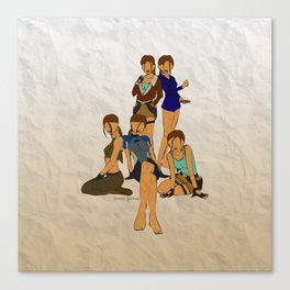 Tomb Raider II Lara Croft Canvas Print